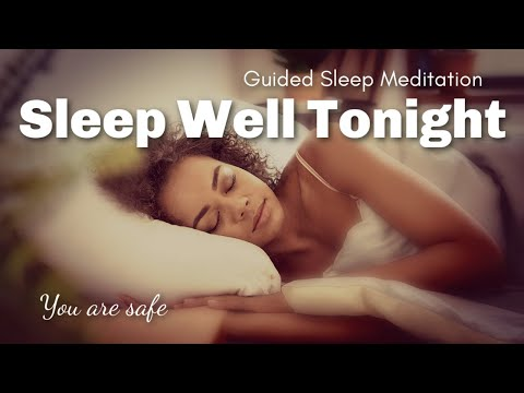 Sleep Well Tonight Guided Meditation for Sleep / Rain Sounds / Guided Visualization