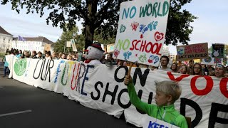'The earth is on fire': Young people lead global climate change protests