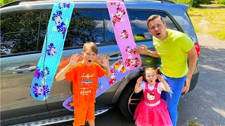 Five Kids funny stories with sticky tape