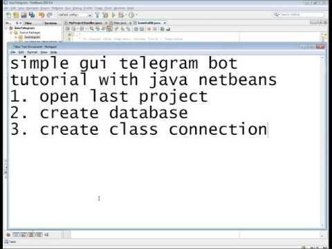 simple GUI telegram bot tutorial with java netbeans MySql