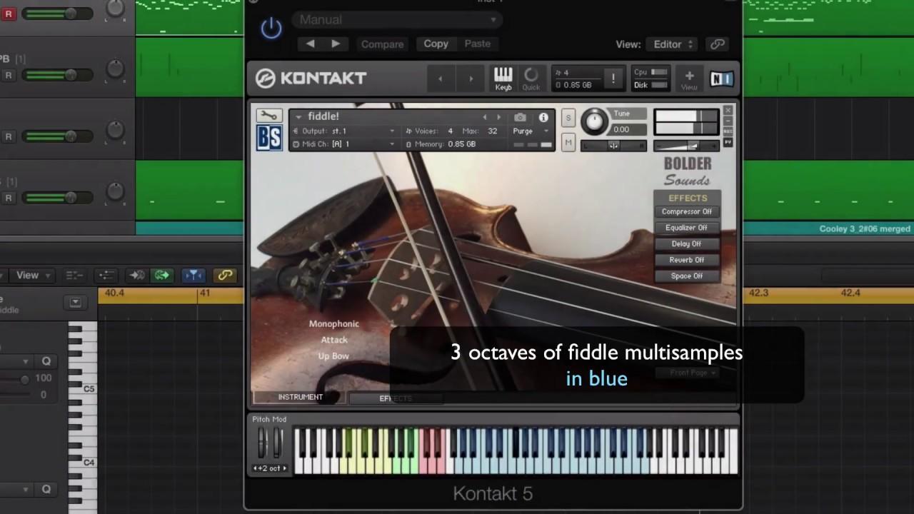 fiddle! V2 for Kontakt [Kontakt 5+] - $69 95 : Bolder Sounds