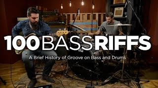 100 bass riffs a brief history of groove on bass and drums