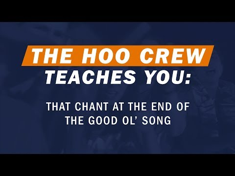 How Does That Chant Go At The End Of UVA's Good Ol' Song?