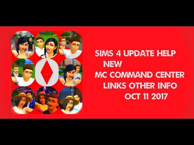 Sims 4 update help + new MC Command Center link 19/06/2019