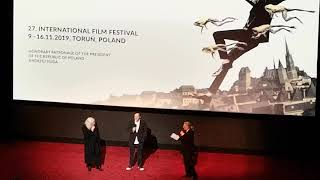 Quentin Tarantino Bob Richardson Q&A Camerimage 2019 before the movie ONCE UPON A TIME IN HOLLYWOOD