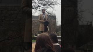 Amer Anwar protesting against Milo Yiannopolous at Glasgow Uni Rector nominations.