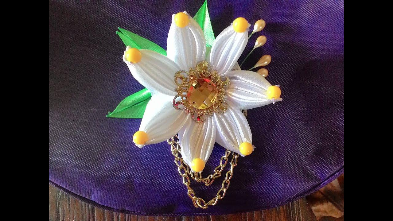 DIY Tutorial - membuat bunga untuk bros dari pita satin ... - photo#14