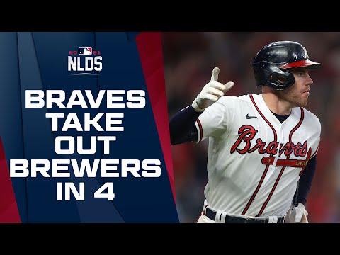 Braves upset Brewers in 4 games to start out NL Postseason matchups!   NLDS Game Highlights