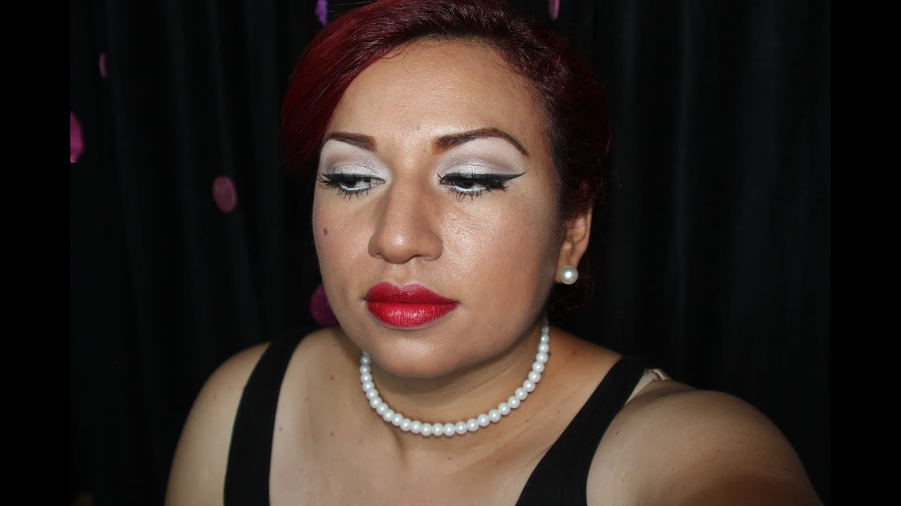 Maquillaje a os 50 colaboracion maquillaje pin up youtube - Maquillage pin up ...