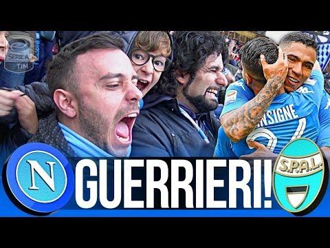 NAPOLI 1-0 SPAL | GUERRIERI!!! LIVE REACTION GOL CURVA B HD