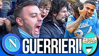 NAPOLI 1-0 SPAL   GUERRIERI!!! LIVE REACTION GOL CURVA B HD