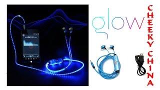 Светящиеся наушники Glow / Наушники пульсируют в такт музыки, светятся в темноте / Посылка из Китая