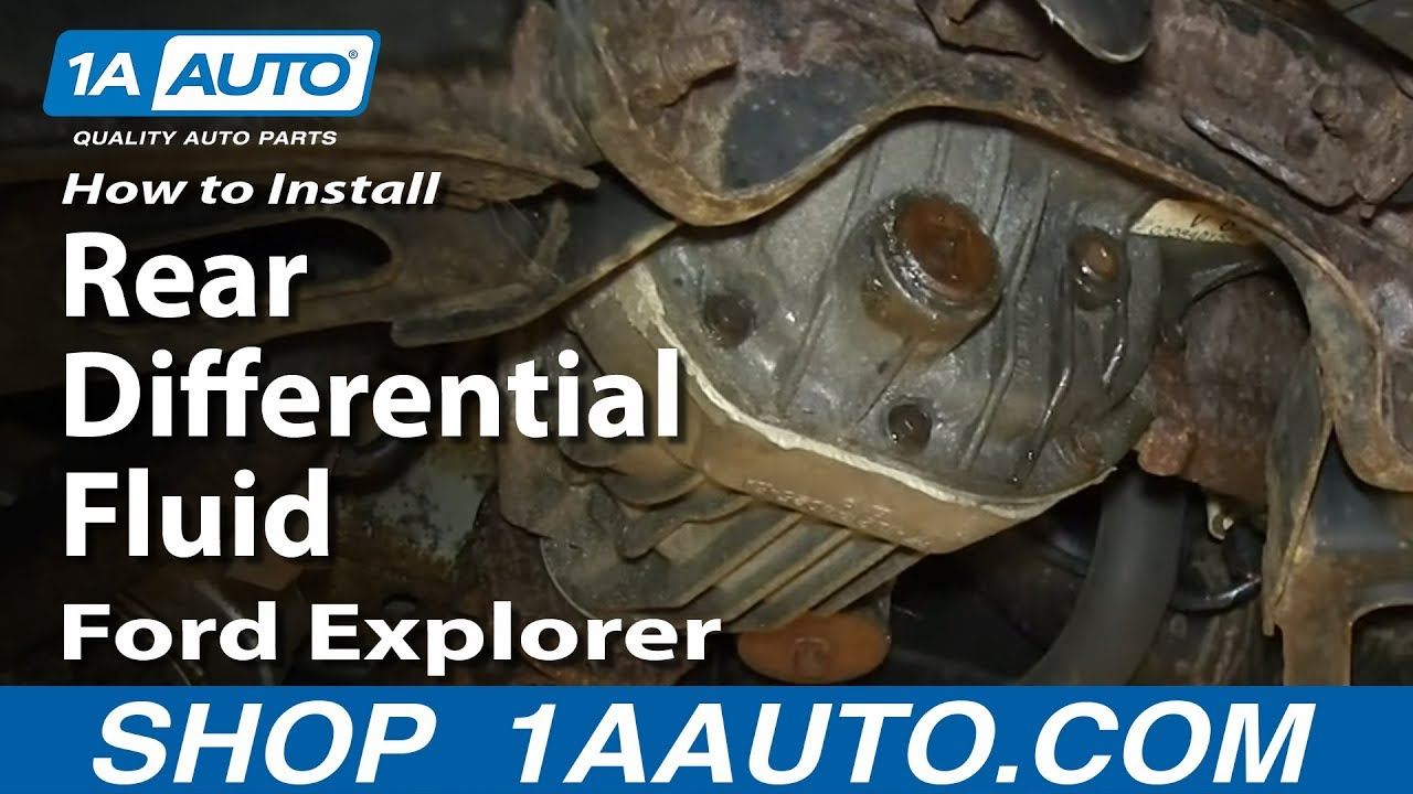 how to change rear differential fluid 2002 05 ford explorer mercury mountaineer [ 1280 x 720 Pixel ]