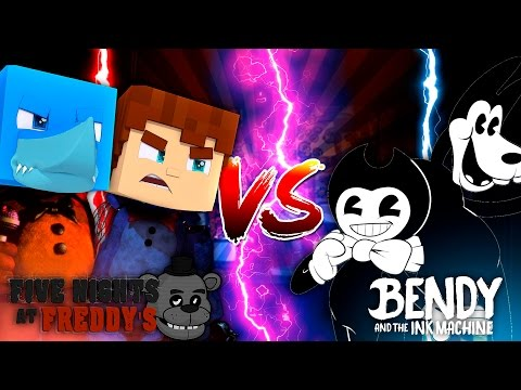 Minecraft FNAF VS BENDY AND THE INK MACHINE - Sharky vs Scuba Steve
