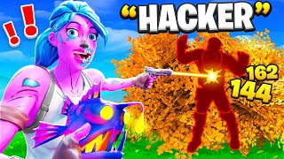 Using X-RAY HACKS to Cheat in Hide & Seek... (Fortnite)