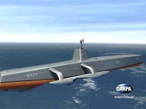 DARPA - Anti-Submarine Warfare (ASW) Continuous Trail Unmanned Vessel [ACTUV] Simulation [480p]