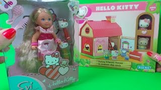 Evi Love Hello Kitty Hair Play Doll Sanrio Uk Toy Unboxing In English