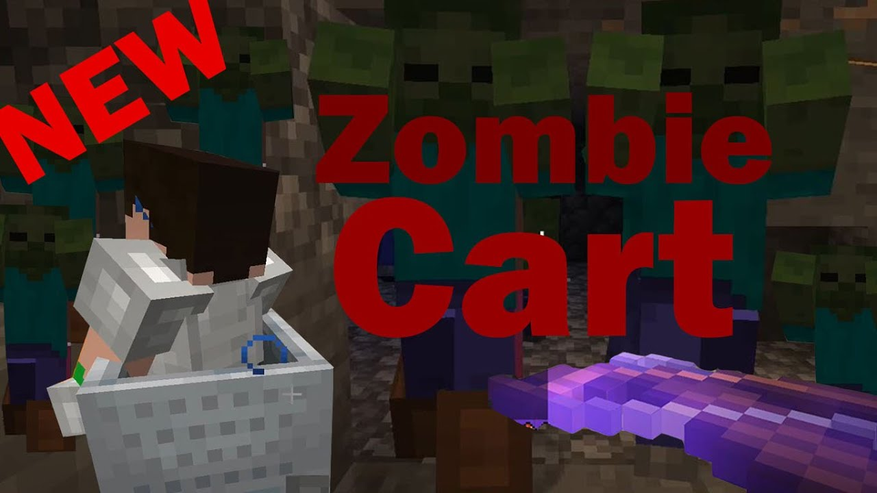 Minecraft Zombie Cart - NEW Realms Minigame