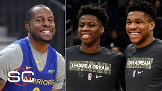 Lakers targeting Andre Iguodala, claim Giannis' brother Kostas off waivers | SportsCenter Video