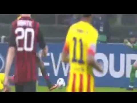 1-1 AC Milan Vs Barcelona 2013 All Goals & Highlights 22/10/2013, 22 October