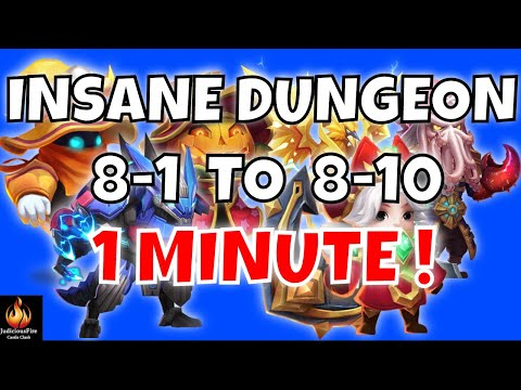 60 SECOND SPEED TEAM Castle Clash Insane Dungeon 8
