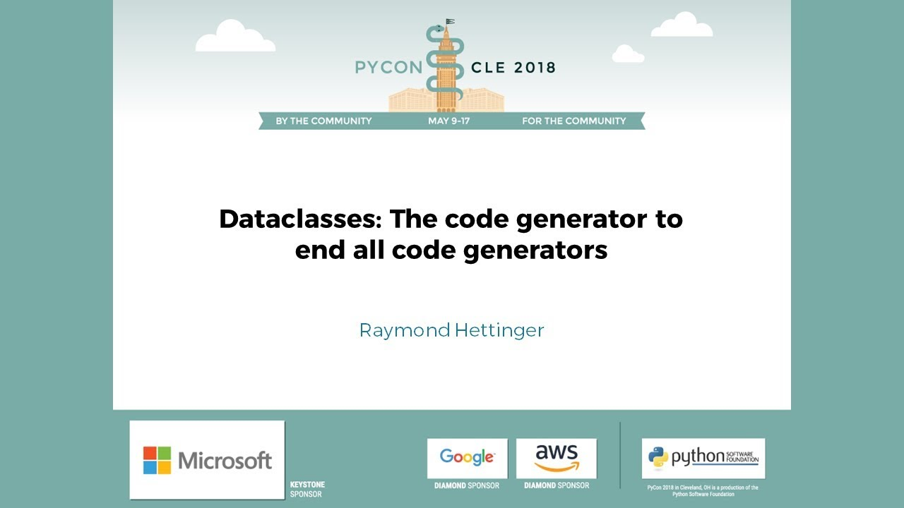Image from Dataclasses: The code generator to end all code generators