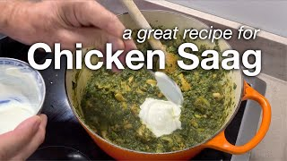 Chicken Saag Recipe - simple to prepare and very tasty