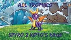Spyro 2 Ripto's Rage All Trophies (Road to Platinum)