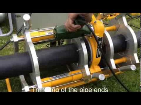 Track 160 Automatic Butt Welding Machine Hdpe Youtube