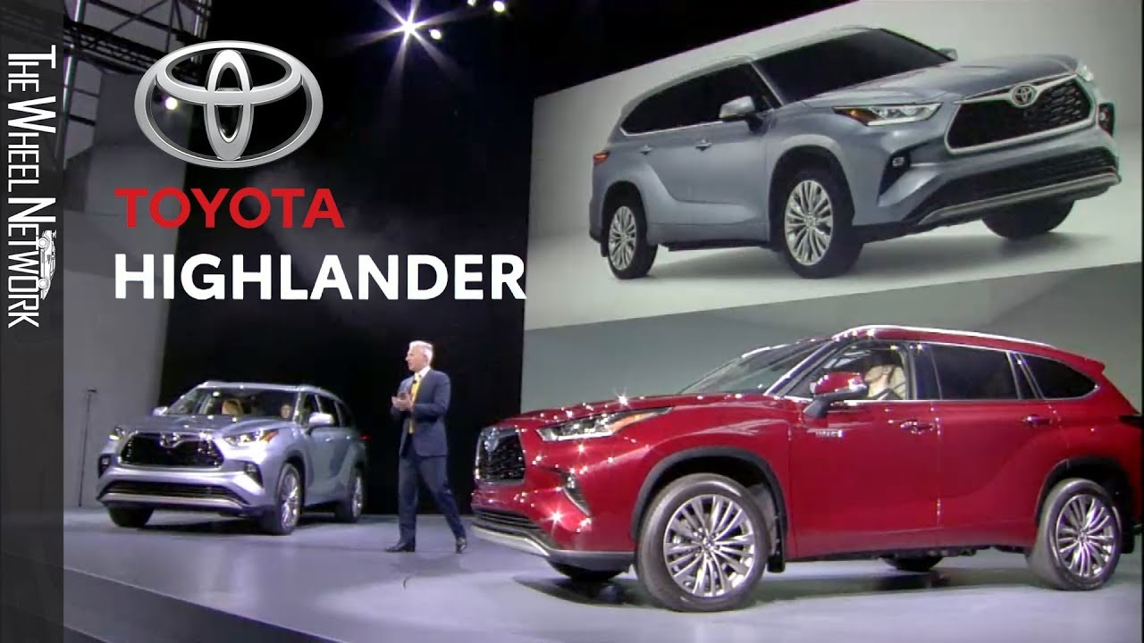 New York Auto Show 2020.2020 Toyota Highlander Reveal At The New York Auto Show Full Press Conference