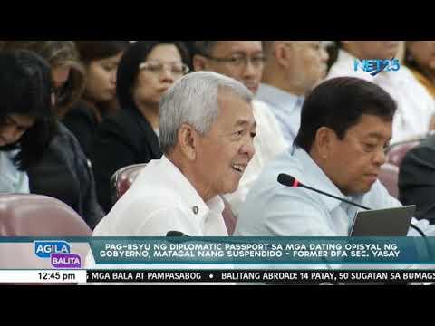 Pag-iisyu Ng Diplomatic Passport Sa Mga Dating Opisyal Ng Gobyerno, Matagal Nang Suspendido - Yasay