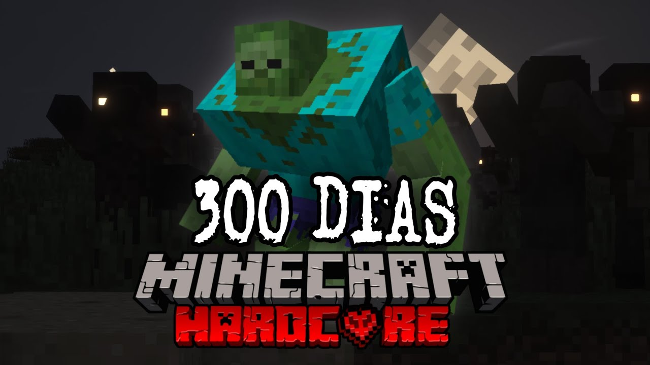 SOBREVIVÍ 300 Días en un APOCALIPSIS ZOMBIE en Minecraft HARDCORE... Y esto es lo que pasó