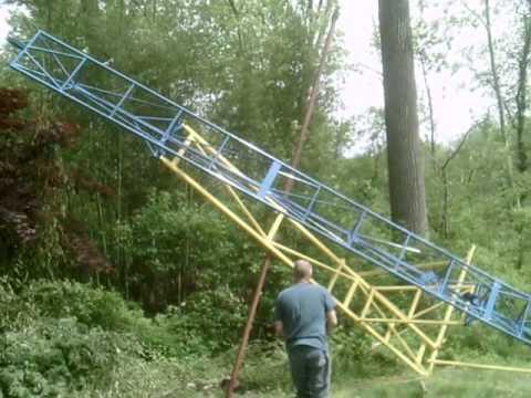 backyard roller coaster setting it up youtube