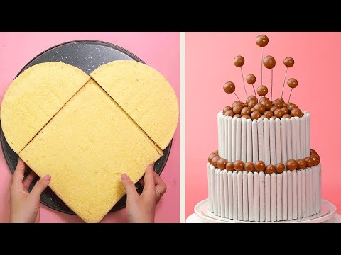 Trying The Best Ever Birthday Cake Recipe | So Yummy Chocolate Cake Decorating Tutorials