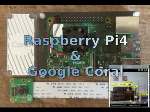 Raspberry Pi 4 (RPi4) & Google Coral Live object detection using  MobileNet-SSD 70FPS!