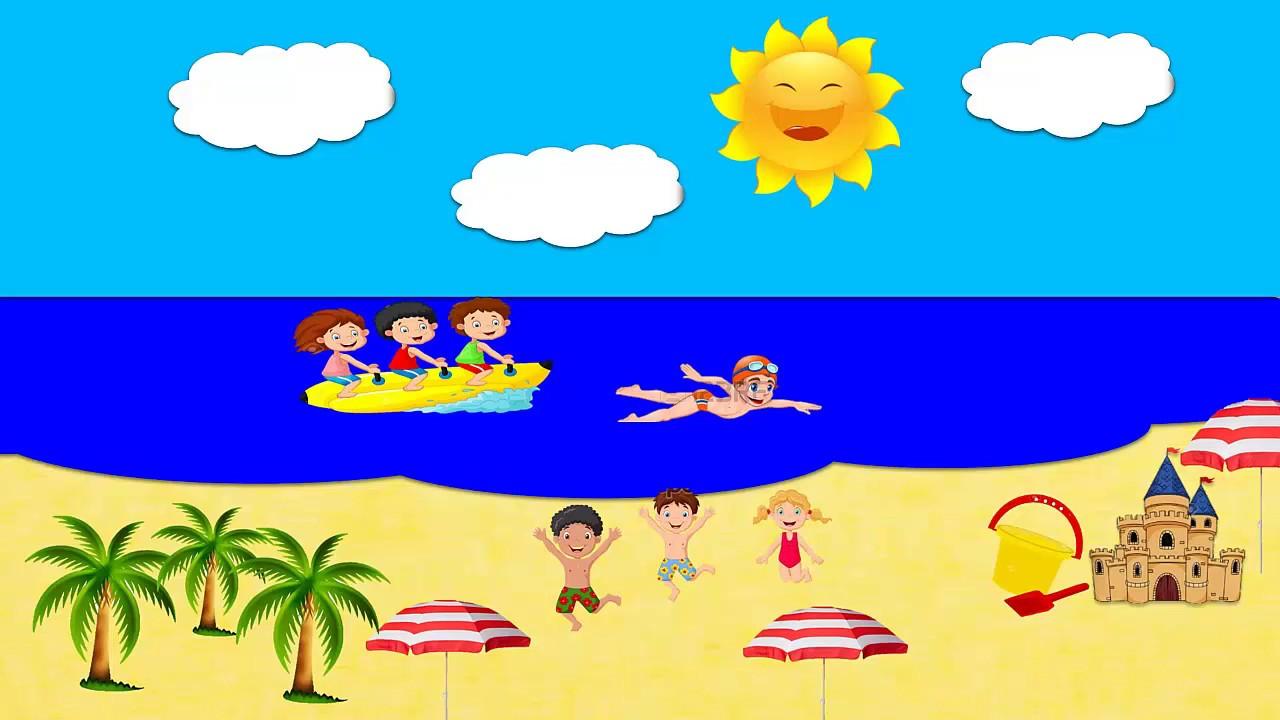 VIDEO INFANTIL -jugando con los niños en la playa -vacaciones para ...