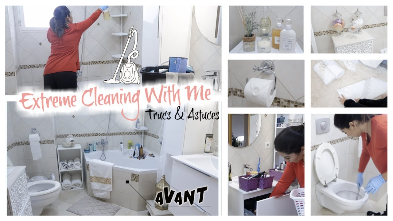 Extreme Cleaning With Me Trucs Astuces Idees Deco Salle De Bain Youtube