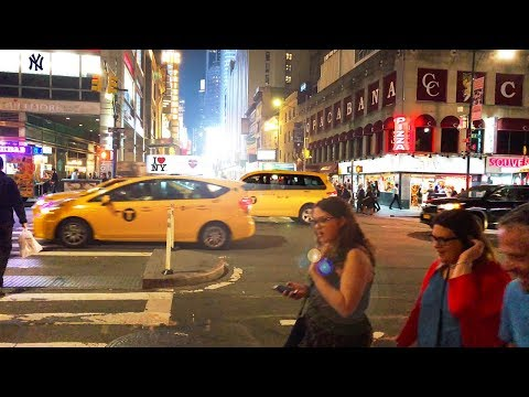 New York City — Night Walk In Times Square — Manhattan【4K】