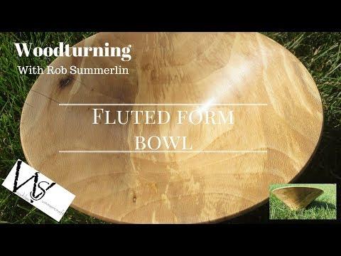 woodturning # 80 fluted form bowl