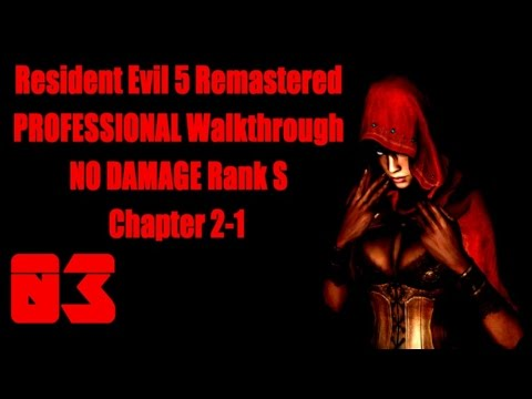 Resident Evil 5 Remastered S-Rank NO DAMAGE PROFESSIONAL ALL Treasure Walkthrough Chapter 2-1
