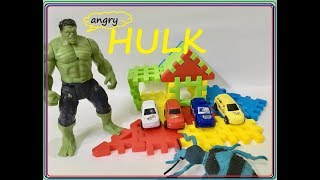 HULK saves little cars from giant insect | hulk vs super insect | kidz candy