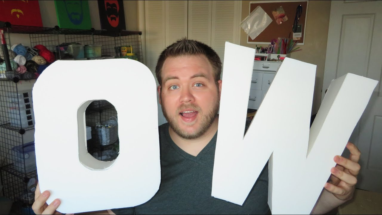 How To Make 3D Letters YouTube