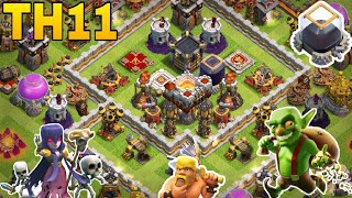 th11 farming base 2018/coc th11 all storage protection farming base 2018/trophy base/clash of clan
