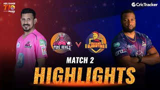 Match 2 - Pune Devils vs Deccan Gladiators, Match Highlights, Abu Dhabi T10 League 2021