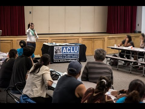 Know Your Immigrant Rights Workshop Presented by ACLU