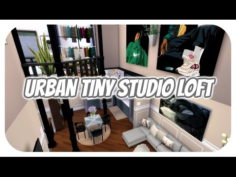 The Sims 4 | Apartment Build: Urban Aesthetic Studio Loft Apartment | W/CC LINKS!!