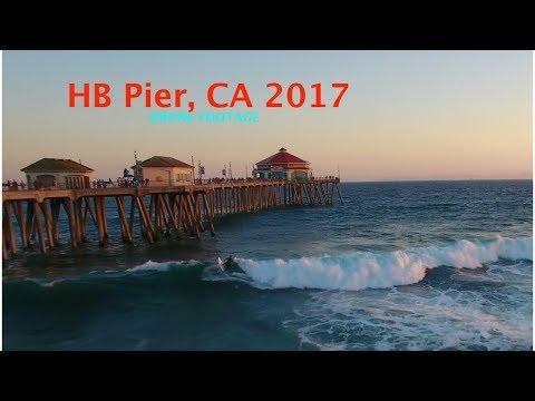 Huntington Beach Pier Drone Footage | Phantom 4 Ft. Spark