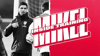INSIDE TRAINING | Mikel Arteta leads the session!
