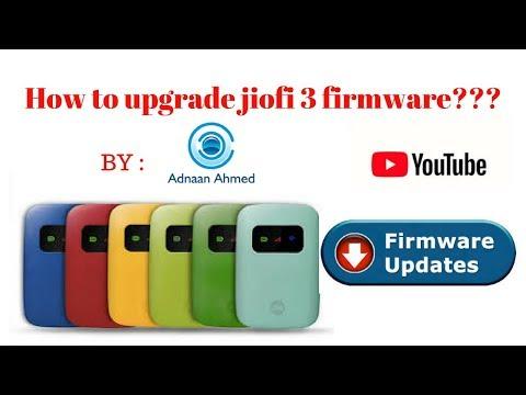 How to upgrade jiofi3 firmware - YouTube