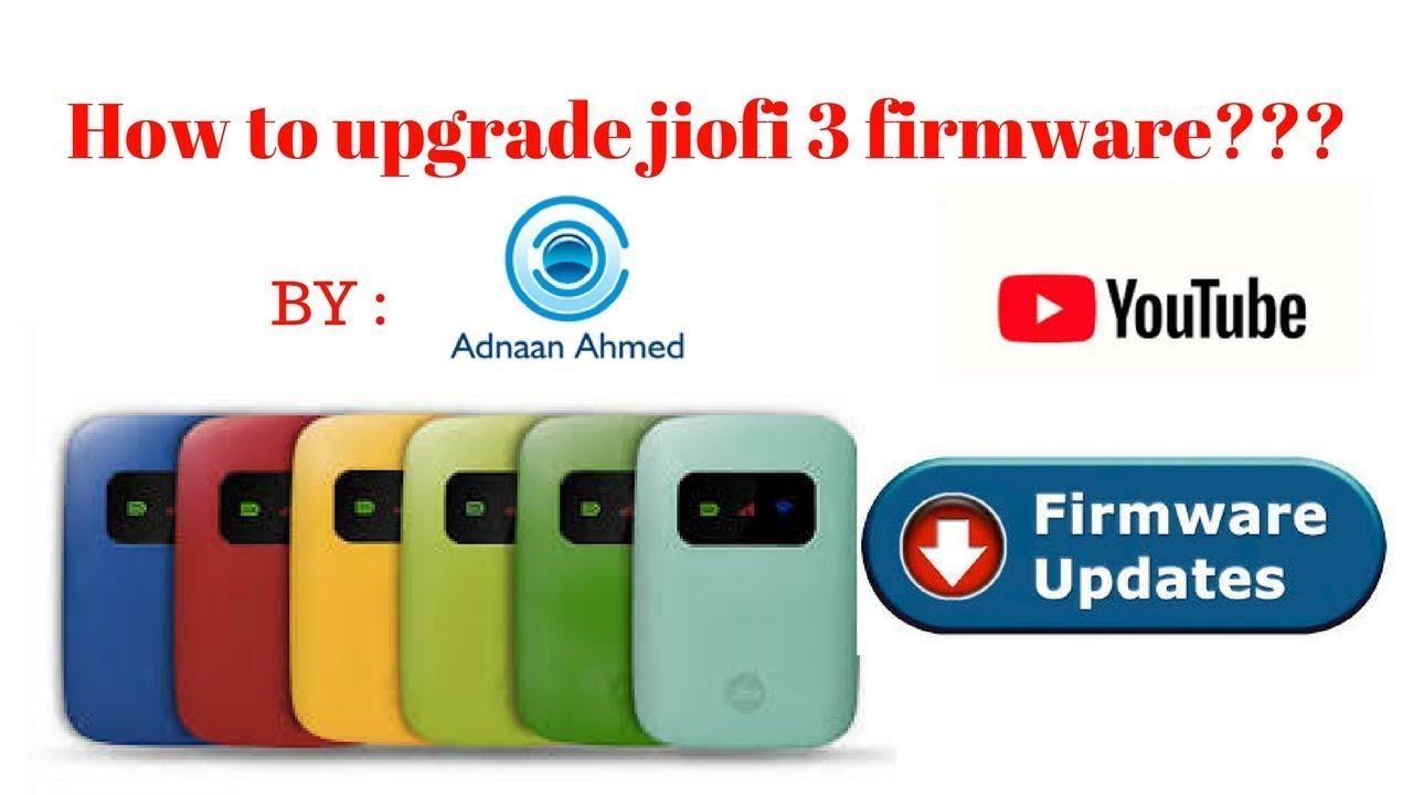 How to upgrade jiofi3 firmware